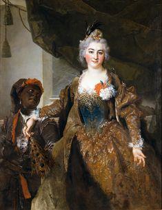 Madame de Soucarières und ihre Page, 1730, by Nicolas de Largillierre (1656-1746)