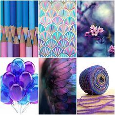 Mood Board Monday ~ BLUE TO PURPLE. Tanis Fiber Arts (08-31-2015)