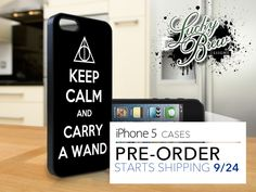 iPhone 5 Hard Case - Harry Potter Keep Calm Carry Wand - Phone Cover PRE-ORDER. $19.88, via Etsy.