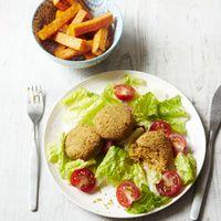 Falafel and butternut squash salad - 299 calories******** Pork and apricot skewers - 286 calories *******Spanish fish stew - 247 calories