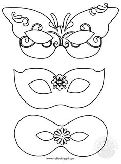 maschere-carnevale-da-colorare Preschool Crafts, Diy Crafts For Kids, Arts And Crafts, Paper Crafts, Theme Carnaval, Mask Template, Halloween Themes, Mask For Kids, Mardi Gras