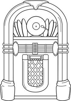 Jukebox Coloring Page