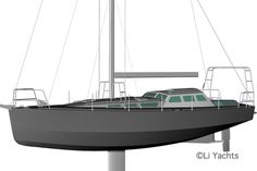 First rendered images with the rig - 40 ft aluminium sailboat Yacht Design, Boat Design, Expedition Yachts, Render Image, Sailing Yachts, Boat Building Plans, Sail Boats, Rowing, Design Process