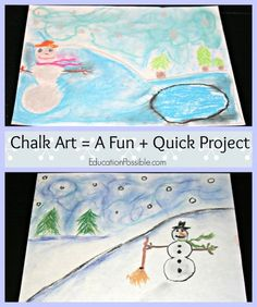 Don't have a lot of time or money for art? Cosider some simple Christmas Art with chalk pastels @Education Possible