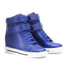 CONCEALED WEDGE LEATHER SNEAKERS  seen @ www.mytheresa.com