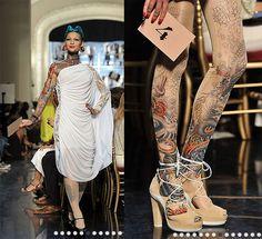 Défilé JP Gaultier et collant tatouage !