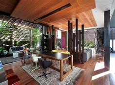Interior Design at Simple and Modern Tropical Style Beach Home Design