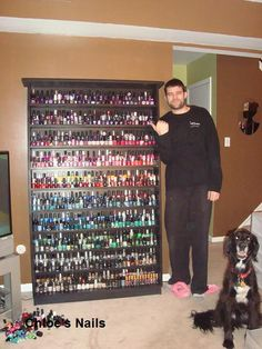 I love how she organizes her nail polish!  If I could do nails like Chloe, I would have that many bottles too!! :) #nails