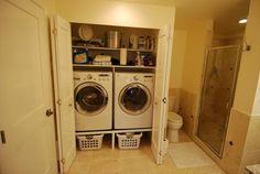laundry & 3/4 bath. ??   Combined bathroom laundry   Pinterest