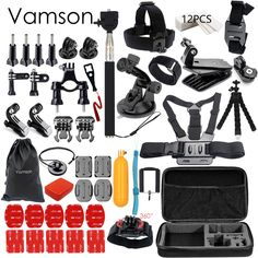 Cheap accessories for power tools, Buy Quality accessories hot directly from China accessories welding Suppliers: Vamson for Gopro Accessories set for go pro hero 5 4 3 kit mount for SJCAM SJ4000 / xiaomi yi camera / eken h9 tripod VS84