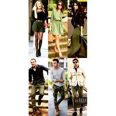 Looks verde militar. www.lelicorrales.com.br