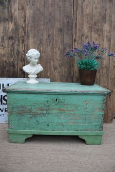 Hungarian Solid Wood Dowry Or Hope Chest