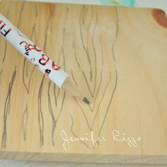 How to make a wood grain stamp with hot glue.... - Jennifer Rizzo