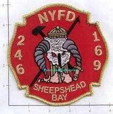 New York City NY Fire Dept Engine 246 Ladder 169 Patch v6