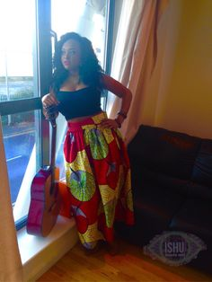 A personal favorite from my Etsy shop https://www.etsy.com/listing/219479681/supreme-african-wax-print-long-skirt