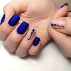 Dark Blue Nails, Blue Acrylic Nails, Green Nails, Nail Art Blue, Blue Gel Nails, Blue Nail Designs, Acrylic Nail Designs, Cute Summer Nail Designs, Stylish Nails