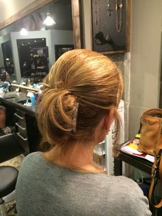 Wedding updo for the mature woman.