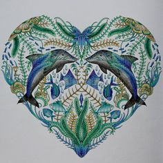 Stihla jsem to do Vánoc :-) #lostocean #johannabasford #coloring #coloringbook #oceanoperdido #oceancolor #oceancoloring