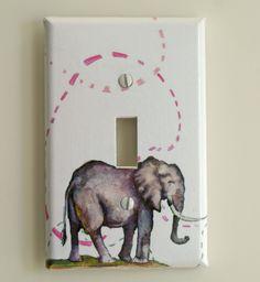 Elephant Decorative Light Switch Plate Cover Great by idillard