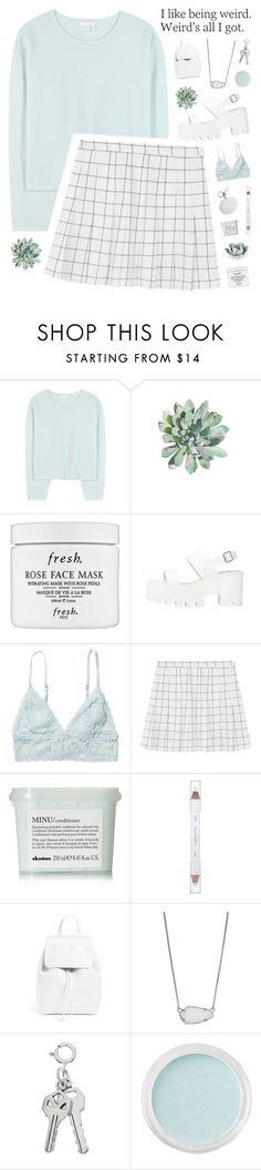"""don't come closer, don't let go of me"" by silvanacavero ❤ liked on Polyvore featuring Chloé, Fresh, Monki, Davines, shu uemura, Mansur Gavriel, Kendra Scott, Bare Escentuals and Michael Kors"