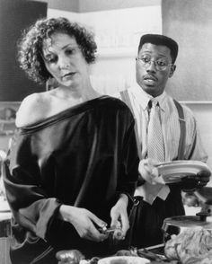 """Annabella Sciorra as Angie and Wesley Snipes as Flipper in """"Jungle Fever"""", African American Movies, Native American Images, Native American Indians, Annabella Sciorra, Spike Lee Movies, John Turturro, Wesley Snipes, Anthony Quinn, African Tribes"""