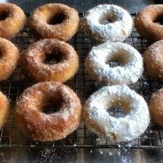 Homemade Gluten Free Donuts! These are delicious. First go around I made plain. Can't wait to try dipping or icing them!