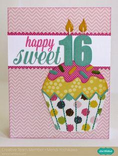 Snippets By Mendi: A Lori Whitlock Sweet Sixteen Cupcake Card
