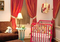 Creating a red and aqua nursery? This red crib would be the perfect fit! #red #aqua #baby #nursery #furniture