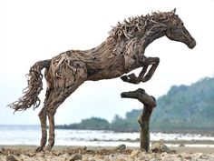 Artist Jeff Uitto creates intricate sculptures from driftwood he finds along the coast of Washington.