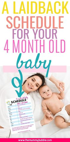 A laidback schedule for your 4 month old baby! Tips for your baby's daily routine at 4 months including when naps should be and how often to feed your baby during the day Cute Baby Names, Unique Baby Names, Baby Girl Names, 4 Month Old Baby Activities, Infant Activities, Baby Schedule 4 Months, Baby At 4 Months, 4 Month Old Schedule, 4 Month Olds