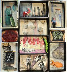 Art box:petit diorama réalisé dans une boîte by AtanMouala on Etsy