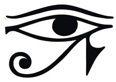The Eye of Horus is an ancient Egyptian symbol of protection, royal power and good health. The eye is personified in the goddess Wadjet. It is also known as the Eye of RA. = Good luck of the 13 most powerful symbols Afro Samurai, Plotter Cutter, History Tattoos, Egyptian Symbols, Egyptian Mythology, Egyptian Goddess, Egyptian Eye Symbol, Eye Art, Symbolic Tattoos