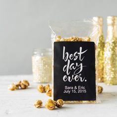 Personalized Best Day Ever Caramel Popcorn