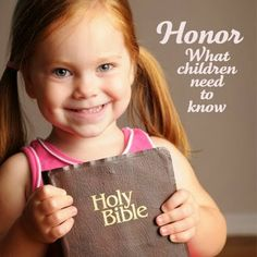 Honor: What children need to know