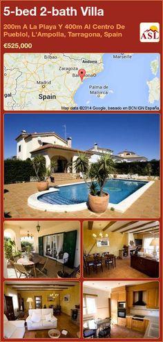 5-bed 2-bath Villa in 200m A La Playa Y 400m Al Centro De Pueblol, L'Ampolla, Tarragona, Spain ►€525,000 #PropertyForSaleInSpain