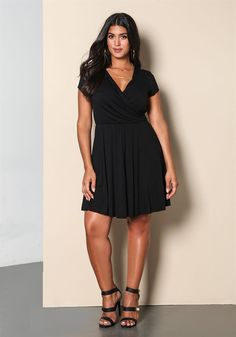 Plus Size | Plus Size Surplice Jersey Knit Dress | Debshops