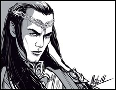 "mellorianjart: "" While many others will enjoy hours of Thranduil and Legolas this December, I'll be fully focused on the 5 (10? 15?) minutes of Elrond. """