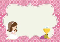 First Communion Favors, First Communion Invitations, First Holy Communion, Communion Centerpieces, Christian Crafts, Catholic Kids, Christening, Disney, Creative