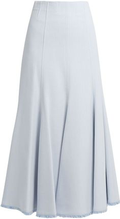 GABRIELA HEARST Warren fluted-hem crepe skirt