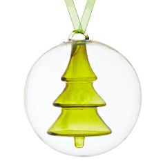 Buy House by John Lewis Tree in Glass Bauble Online at johnlewis.com