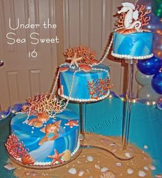 796ddd1f50c Under the sea sweet 16 cakes 16th Birthday Cake For Girls