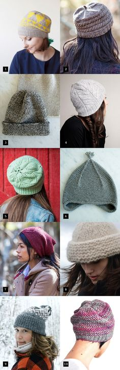 There have been so many outstanding hat patterns published in the last few months, I thought it was time to highlight my favorites. I'm crazy about all of these: 1. Fractals Hat by Olga Buraya-Kefe...