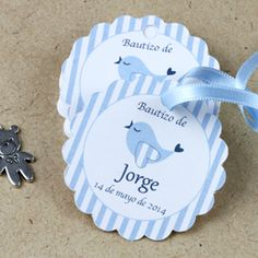 Etiquetas de Bautizo Baby Ruth, Baby Shawer, Baptism Party, Boy Baptism, Baby Shower Balloons, Baby Shower Favors, Baby Food Jar Crafts, Blue Party Decorations, Ideas Para Fiestas
