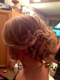 curly romantic prom hair updo