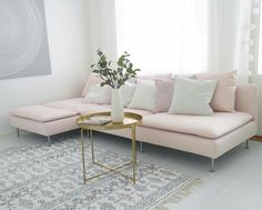 Soderhamn, Living Room Sofa, Pink Sofa Living, Home N Decor, Pink Couch Living Room, Bedroom Makeover, Sofa Home, Couches Living Room, Living Room Decor Cozy