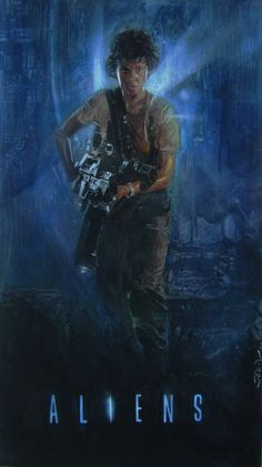 Aliens - movie poster - Joseph Lee