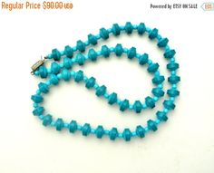 Sale Turquoise Necklace Chrysocolla Beads by TheJewelryLadysStore