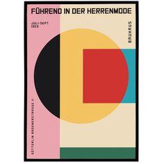 Art Bauhaus, Design Bauhaus, Bauhaus Style, Bauhaus Textiles, Geometric Poster, Geometric Art, Wassily Kandinsky, Dm Poster, Wall Art Prints
