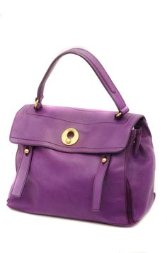 Yves Saint Laurent Muse Two Purple Leather Tote Bag, сумки модные брендовые, bags lovers, http://bags-lovers.livejournal