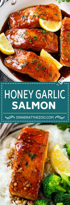 Honey Garlic Salmon Recipe Asian Salmon Recipe Healthy Salmon Recipe salmon fish seafood healthy dinner dinneratthezoo is part of Asian salmon recipes - Salmon Dinner, Seafood Dinner, Salmon Meals, Salmon Food, Asian Salmon, Asian Shrimp, Butter Salmon, Lemon Butter, Garlic Salmon